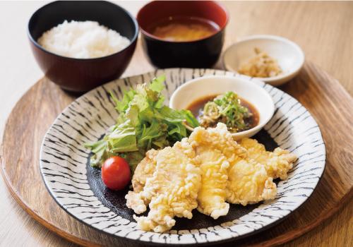 茶美豚の中華風天ぷら定食